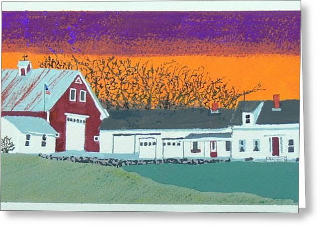 Weld Farm 1 Greeting Card by Daryl Shaw