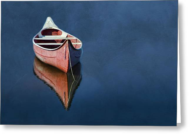 Canoe Greeting Cards - Well Anchored Greeting Card by Robin-lee Vieira
