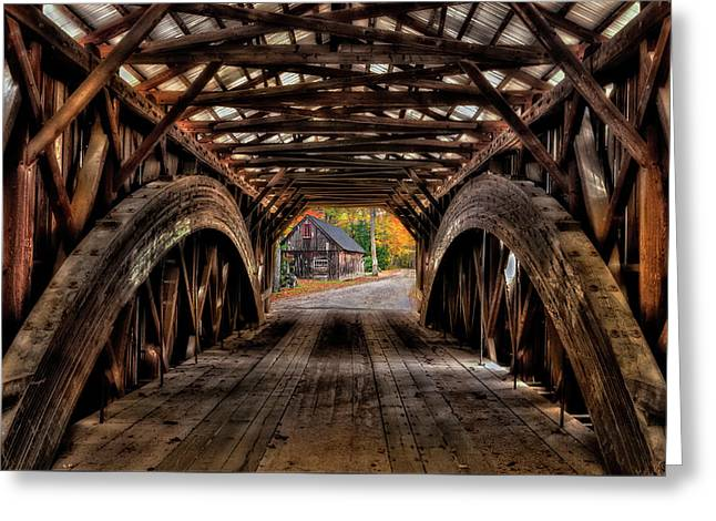 We'll Cross That Bridge Greeting Card by Thomas Schoeller