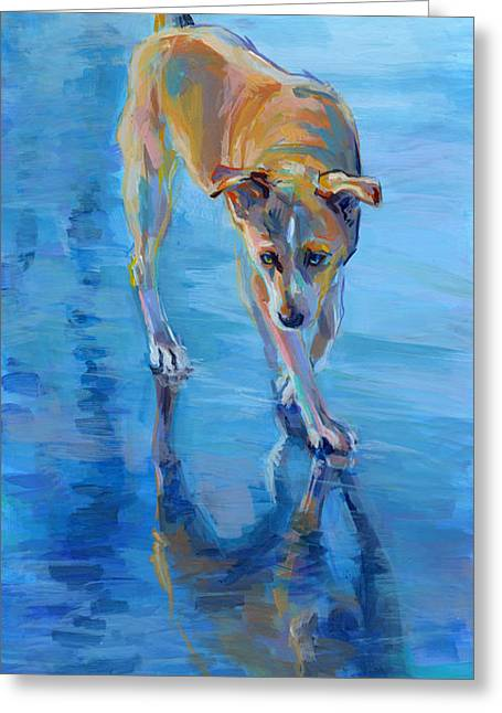 Mixed Breed Greeting Cards - Well Hello Gorgeous Greeting Card by Kimberly Santini