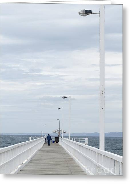 We'll Meet At The Jetty Greeting Card by Linda Lees
