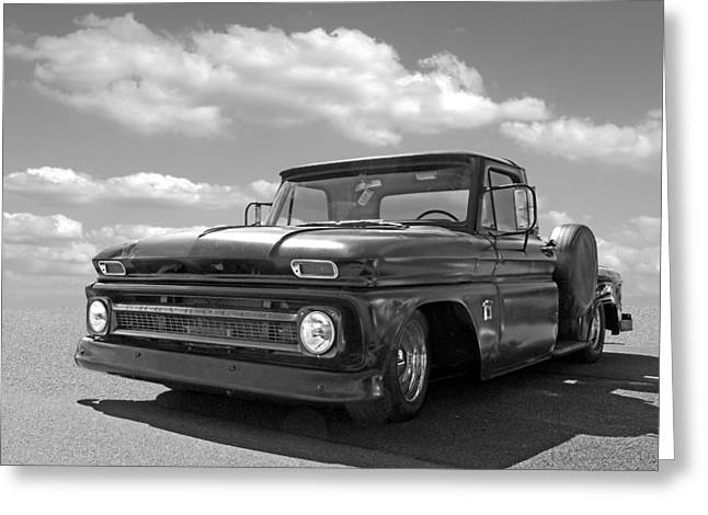 Well Used - 64 Chevy C10 Greeting Card by Gill Billington