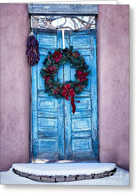 Well Worn Blue Greeting Card