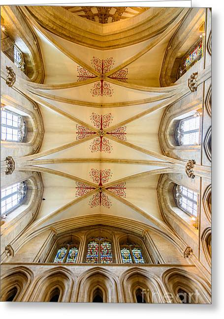 Wells Cathedral Ceiling Greeting Card