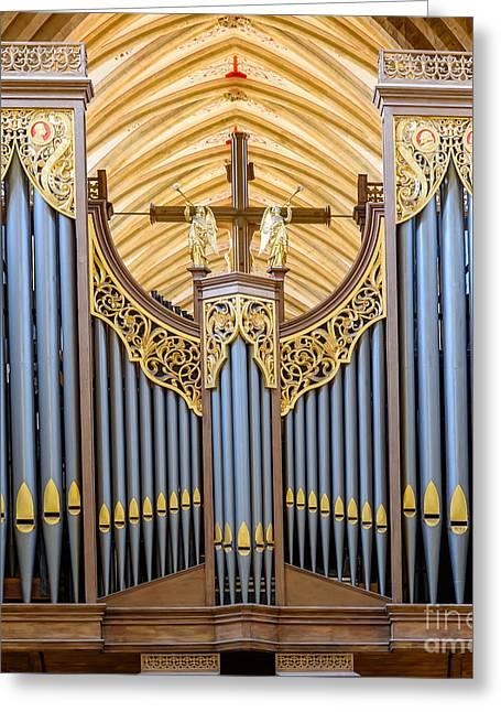 Wells Cathedral Organ Greeting Card