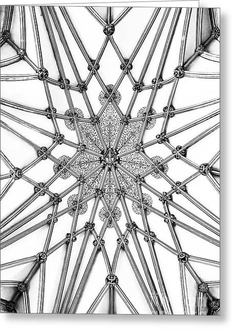 Wells Cathedral Lady Chapel Ceiling Greeting Card