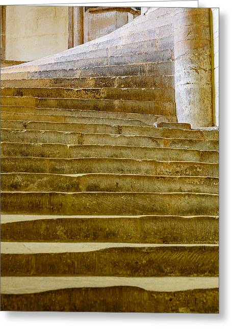 Wells Cathedral Steps Greeting Card