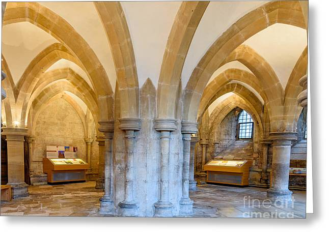 Wells Cathedral Undercroft Greeting Card