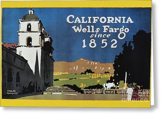 Wells Fargo Banner, 1917 Greeting Card by Granger