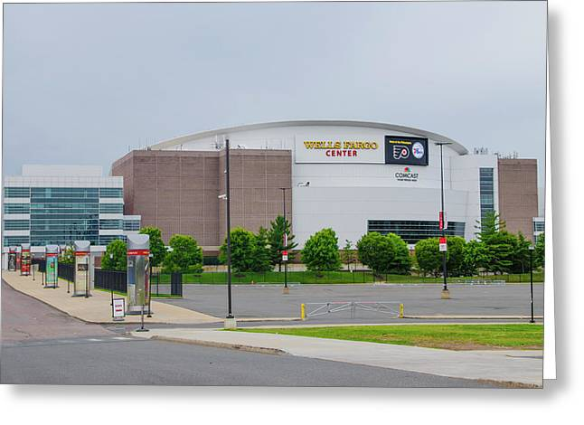 Wells Fargo Center - Home Of The Flyers And Sixers Greeting Card by Bill Cannon
