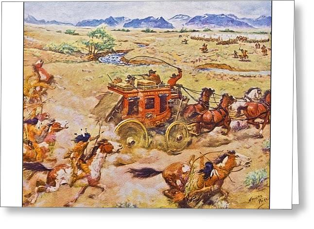 Wells Fargo Express Old Western Greeting Card