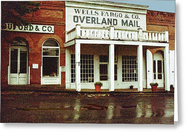 Wells Fargo Ghost Station Greeting Card