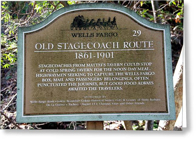 Wells Fargo Stage Coach Sign Greeting Card