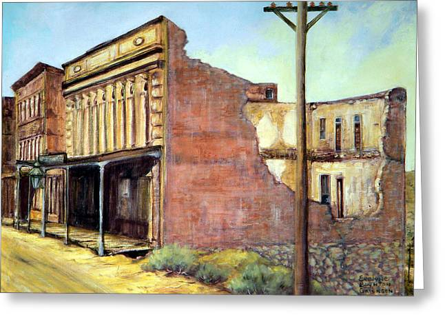 Wells Fargo Virginia City Nevada Greeting Card by Evelyne Boynton Grierson