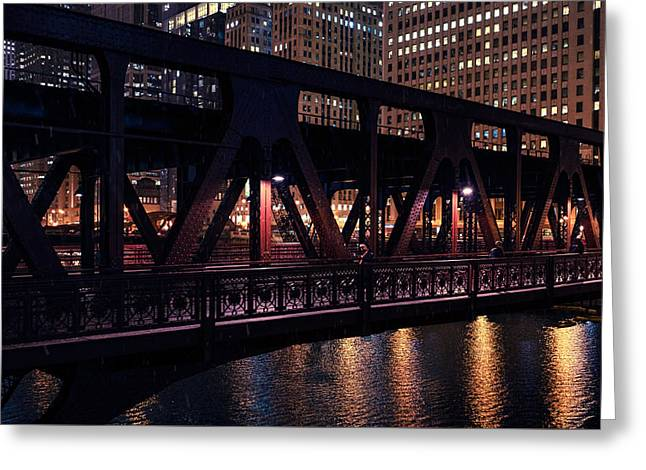 Wells Street Bridge II Greeting Card
