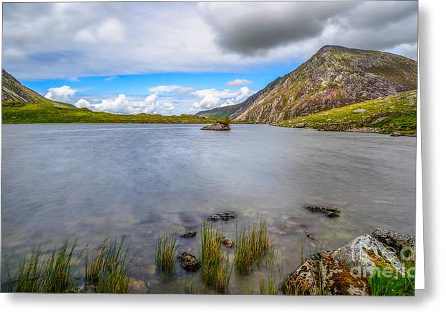 Welsh Mountain Greeting Card by Adrian Evans