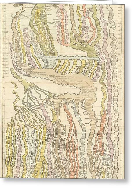 Weltgeschichte - World History - Chronographical Chart - Historic Chart - Antique Atlas Greeting Card