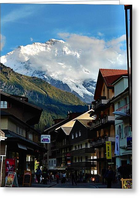 Wengen Alps Greeting Card by David Powell