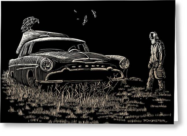 Went For Gas Greeting Card by Bomonster