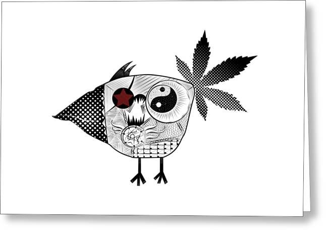 Werd Greeting Card by Serkes Panda