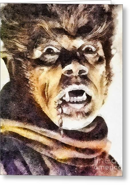 Werewolf Of London 1935, Vintage Horror Greeting Card by John Springfield