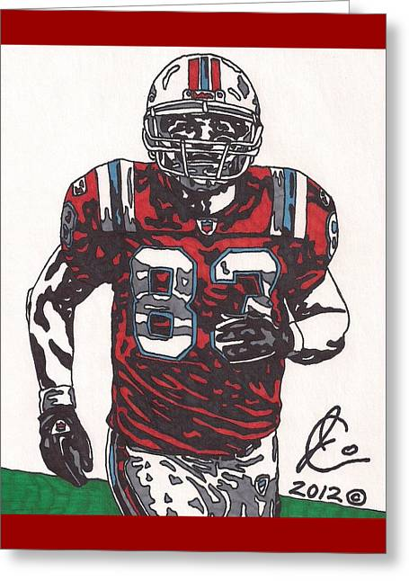 Wes Welker Greeting Card by Jeremiah Colley