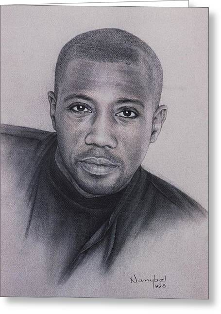 Photorealism Pastels Greeting Cards - Wesley Snipes Greeting Card by Nanybel Salazar