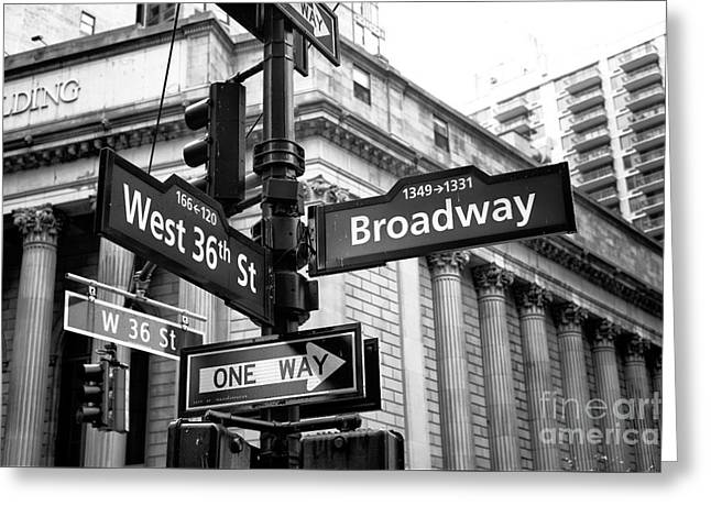 West 36th Street And Broadway Greeting Card