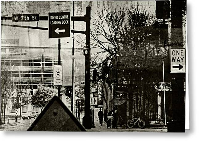 Greeting Card featuring the photograph West 7th Street by Susan Stone