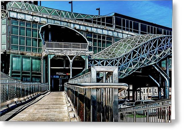 Greeting Card featuring the photograph West 8th Street New York Aquarium Subway Station by Chris Lord