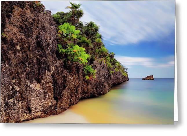 Greeting Card featuring the photograph West Bay Beach At Isla Roatan - Caribbean - Honduras - Seascape by Jason Politte