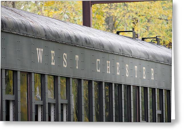 West Chester Railroad - Passenger Car Greeting Card