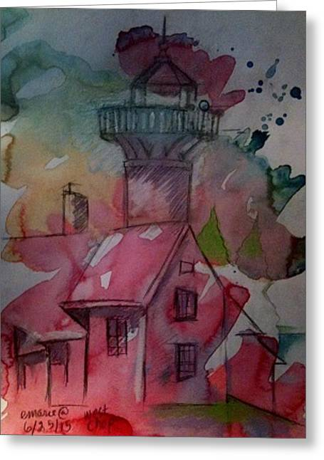 West Chop Lighthouse Greeting Card by Elaine Marie