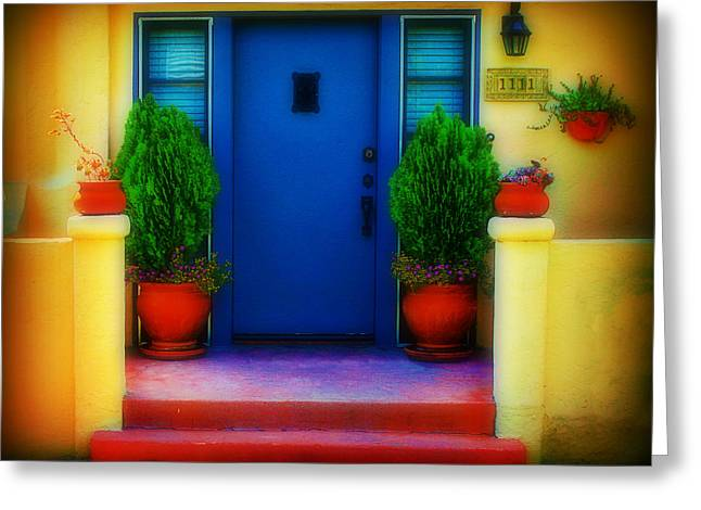 West Coast Door Greeting Card by Perry Webster