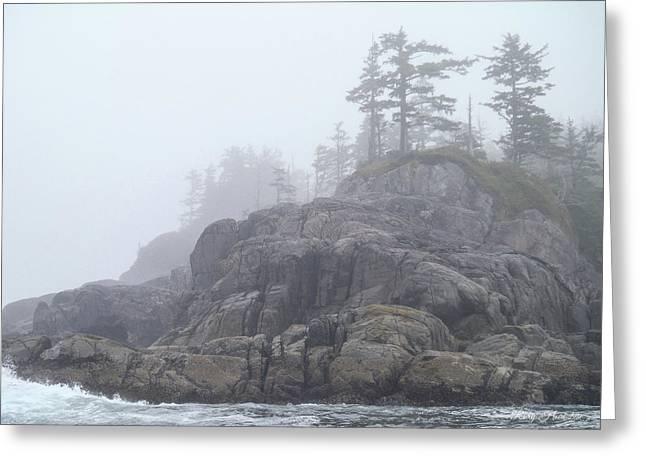 West Coast Landscape Ocean Fog I Greeting Card