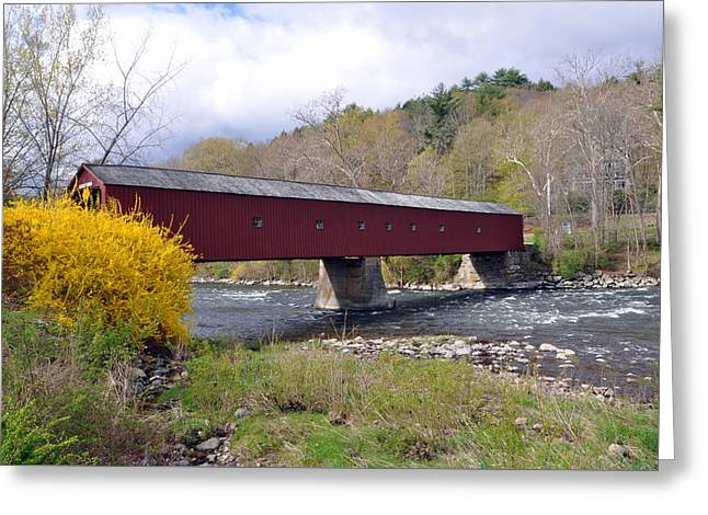 West Cornwall Ct Covered Bridge Greeting Card
