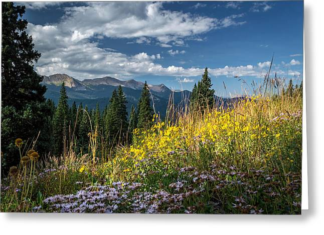 West Elk Mountain Range Greeting Card