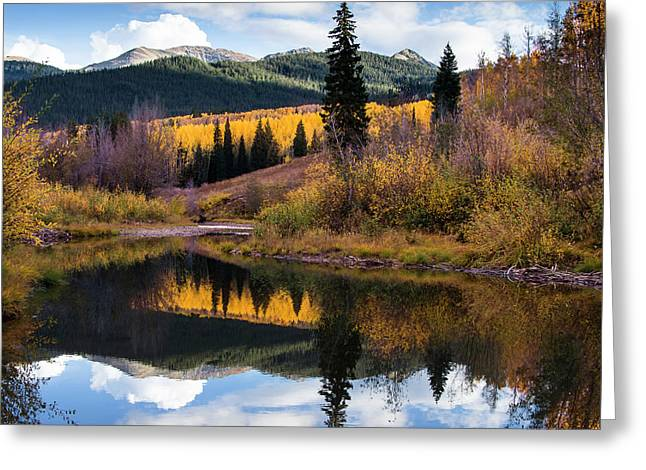 Greeting Card featuring the photograph West Elk Range Reflection by The Forests Edge Photography - Diane Sandoval