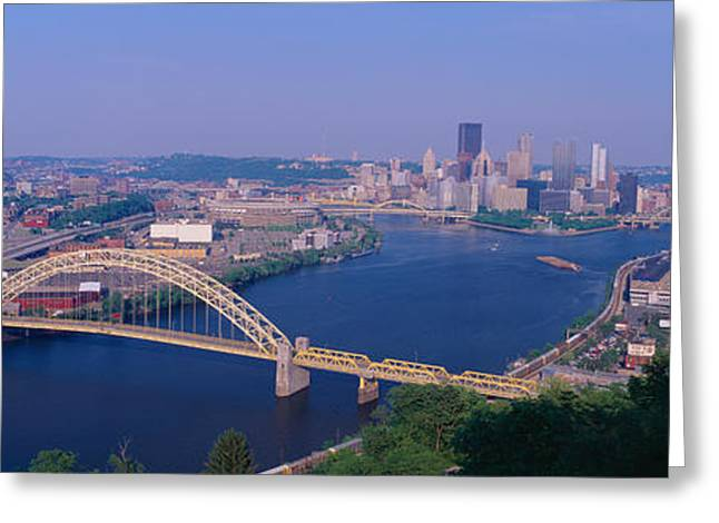 West End Bridge At The Three Rivers Greeting Card by Panoramic Images