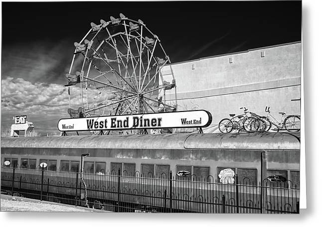 Greeting Card featuring the photograph West End Diner by James Barber