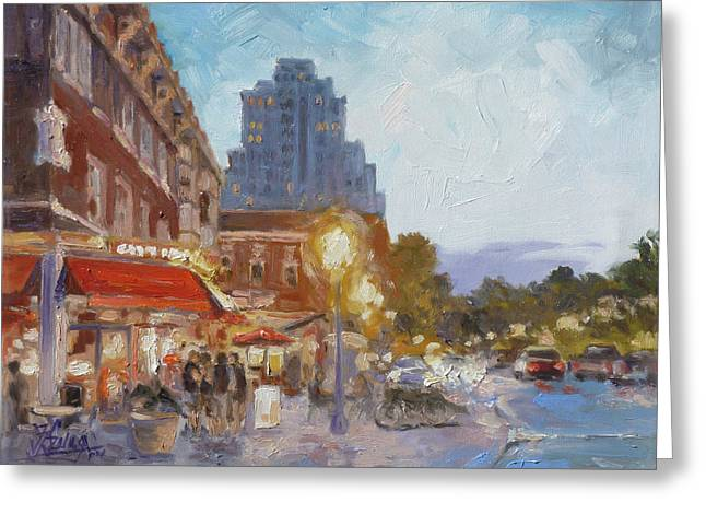 West End Evening - St.louis Greeting Card