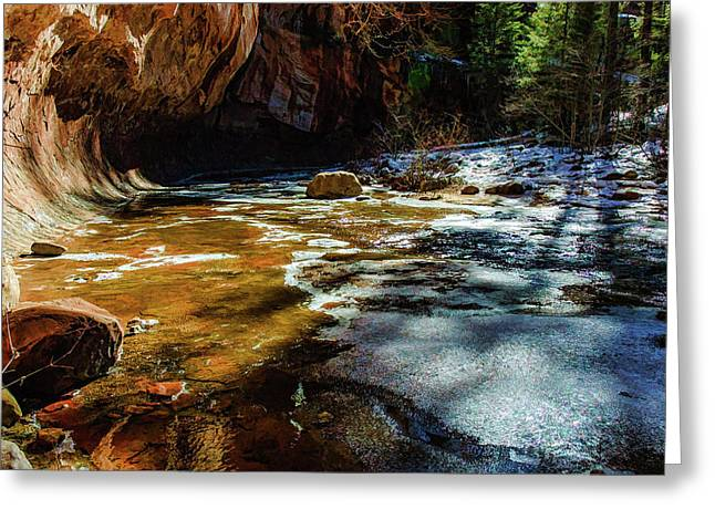 West Fork 07-011 Greeting Card by Scott McAllister