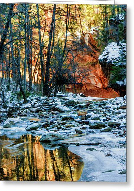 West Fork 07-055 Greeting Card by Scott McAllister