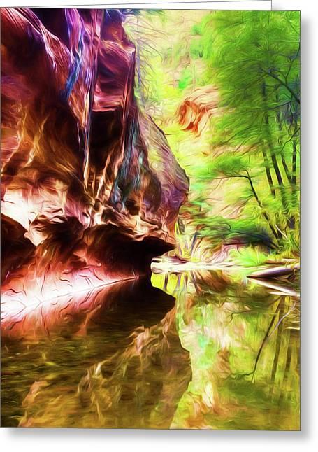 West Fork Of Oak Creek Canyon Greeting Card