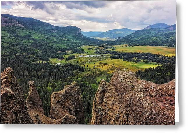 West Fork Valley View Greeting Card by Loree Johnson