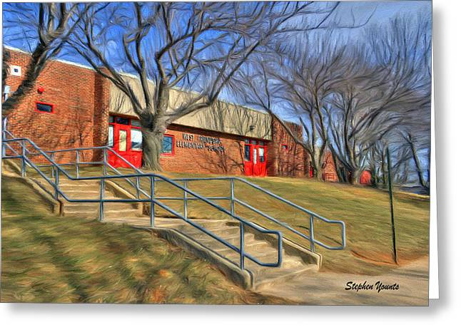 West Friendship Elementary School Greeting Card by Stephen Younts