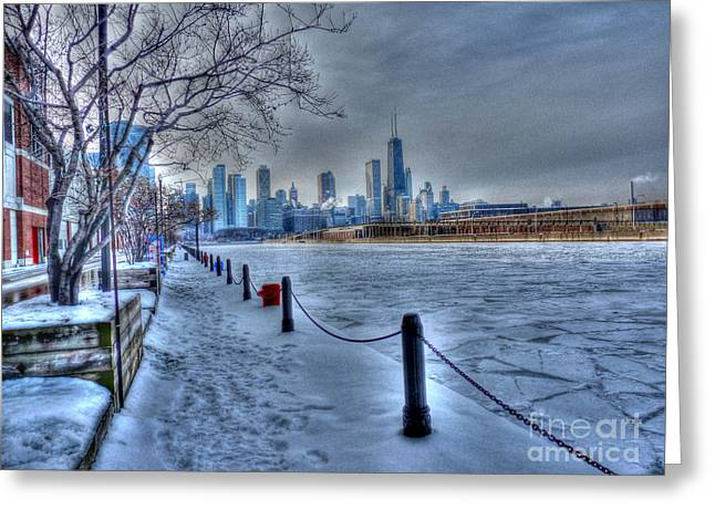West From Navy Pier Greeting Card