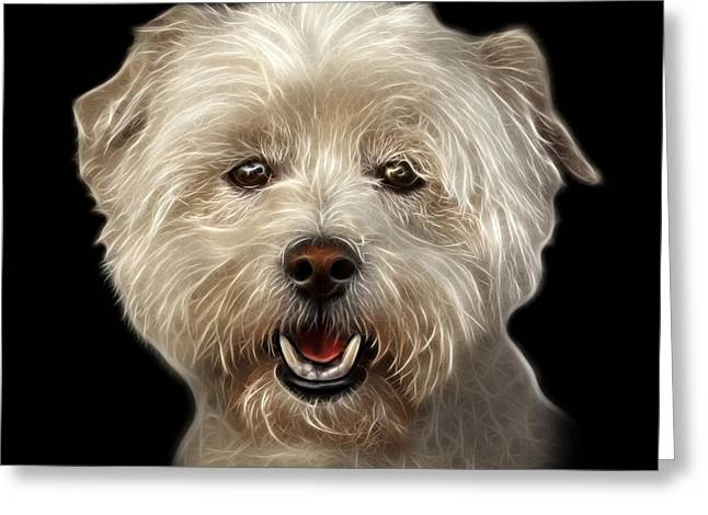 West Highland Terrier Mix - 8674 - Bb Greeting Card