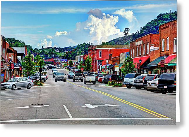West Jefferson Streetscape Greeting Card by Dale R Carlson