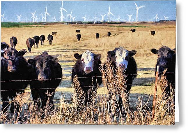 Greeting Card featuring the digital art West Kansas Economics by JC Findley